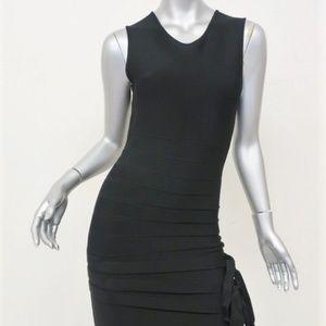 Herve Leger Bandage Dress Black Size Small